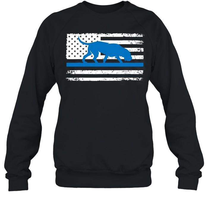 American Flag Bloodhound K9 Police Thin Blue shirt Unisex Sweatshirt