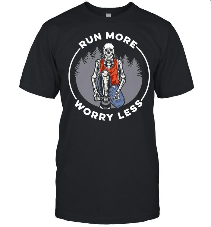 Skull Run more Worry Less shirt Classic Men's T-shirt