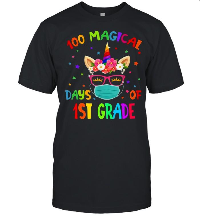 100 Magical Days Of 1St Grade School Unicorn shirt Classic Men's T-shirt