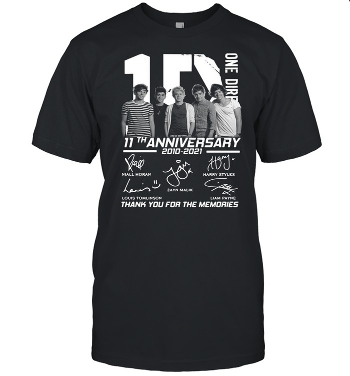 1D one Direction 11th anniversary 2010 2021 signatures thank you for the memories shirt Classic Men's T-shirt