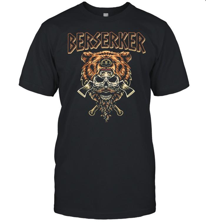Berserker Bear Skull shirt Classic Men's T-shirt