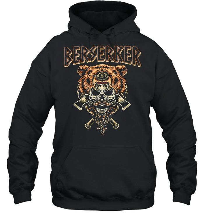 Berserker Bear Skull shirt Unisex Hoodie