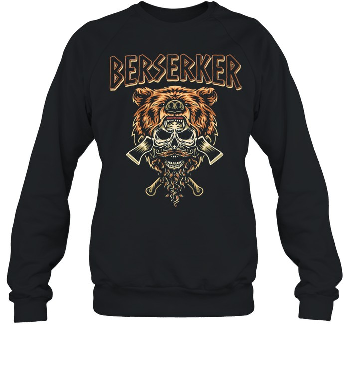 Berserker Bear Skull shirt Unisex Sweatshirt