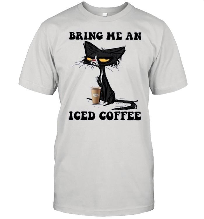 Black Cat Bring me an Iced Coffee shirt Classic Men's T-shirt