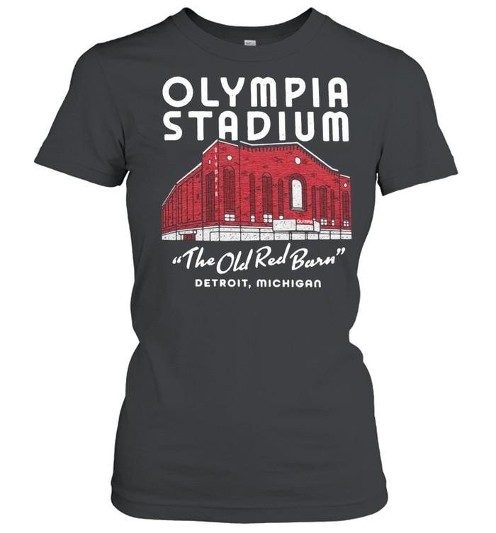 Olympia Stadium The Old Red Barn Detroit Michigan shirt Classic Women's T-shirt