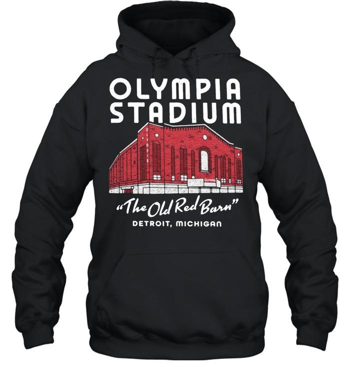 Olympia Stadium The Old Red Barn Detroit Michigan shirt Unisex Hoodie