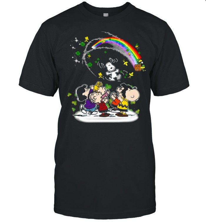 Snoopy Woodstock And Friends Happy St Patrick's Day 2021 shirt Classic Men's T-shirt