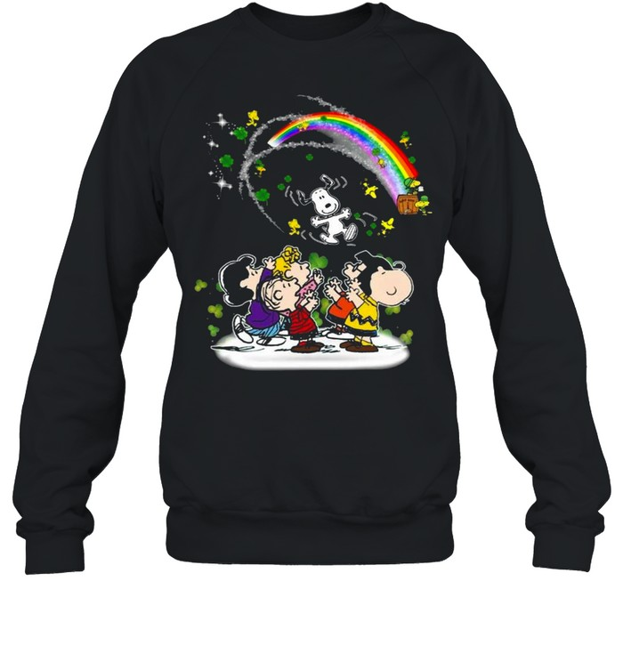 Snoopy Woodstock And Friends Happy St Patrick's Day 2021 shirt Unisex Sweatshirt