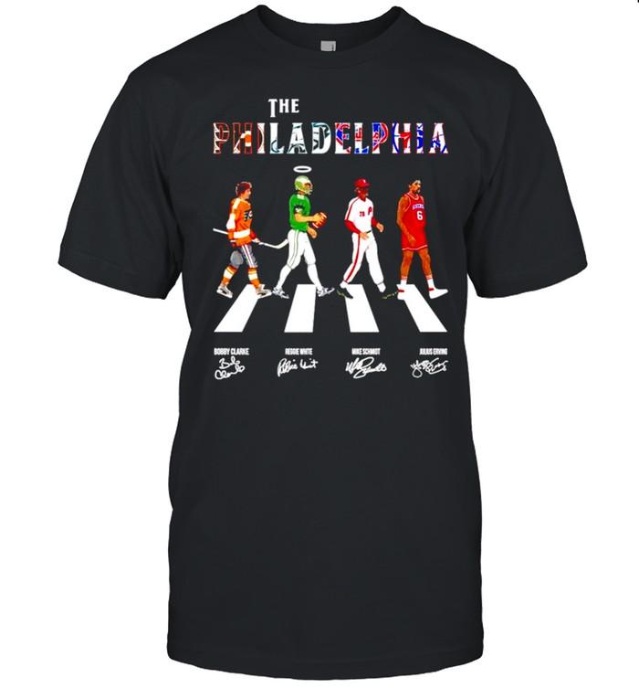 The philadelphia teams sport abbey road signatures shirt Classic Men's T-shirt