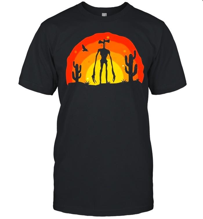 Siren Head Costume For Boys Desert Saguaro Plants shirt Classic Men's T-shirt