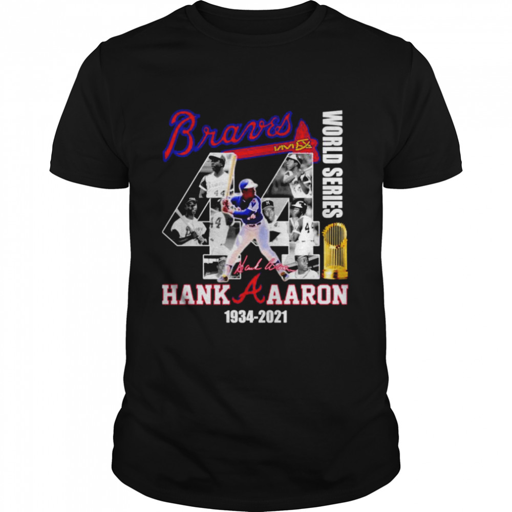 Braves 44 World Series Hank Aaron 1934 2021 shirt Classic Men's T-shirt