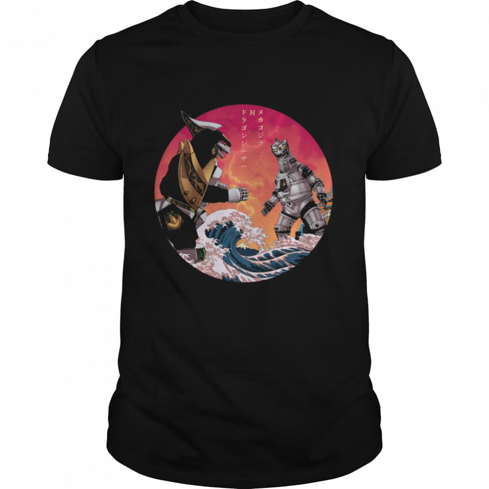 Discover Japan Mechagodzilla Vs Godzilla shirt Classic Men's T-shirt