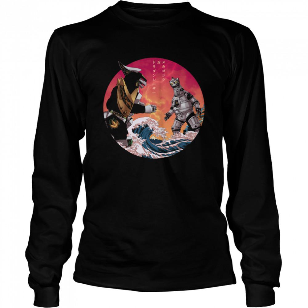 Discover Japan Mechagodzilla Vs Godzilla shirt Long Sleeved T-shirt