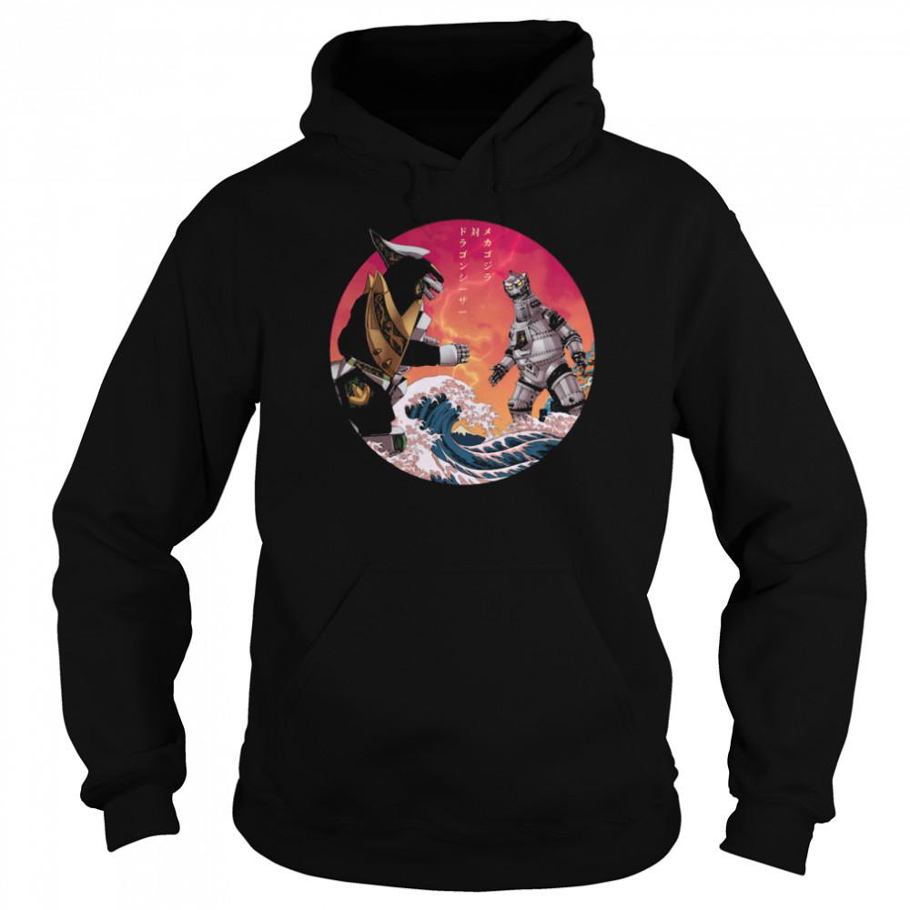 Discover Japan Mechagodzilla Vs Godzilla shirt Unisex Hoodie