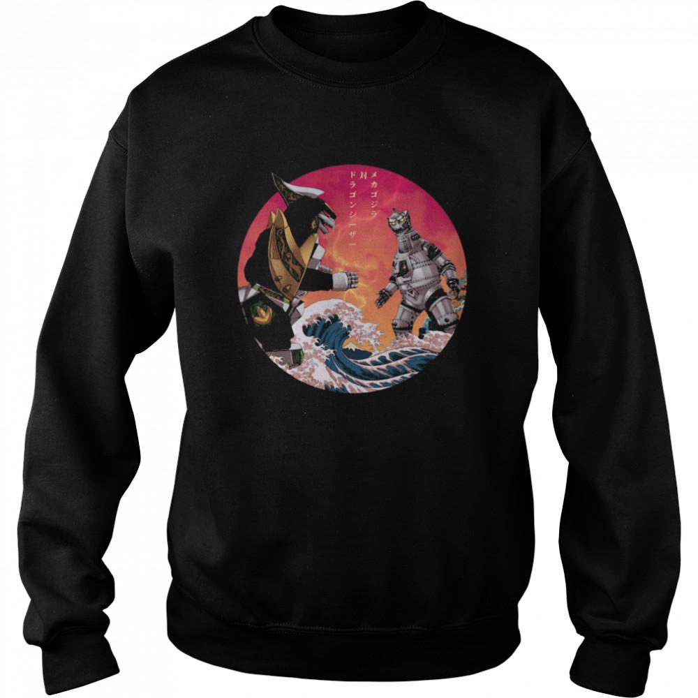 Discover Japan Mechagodzilla Vs Godzilla shirt Unisex Sweatshirt