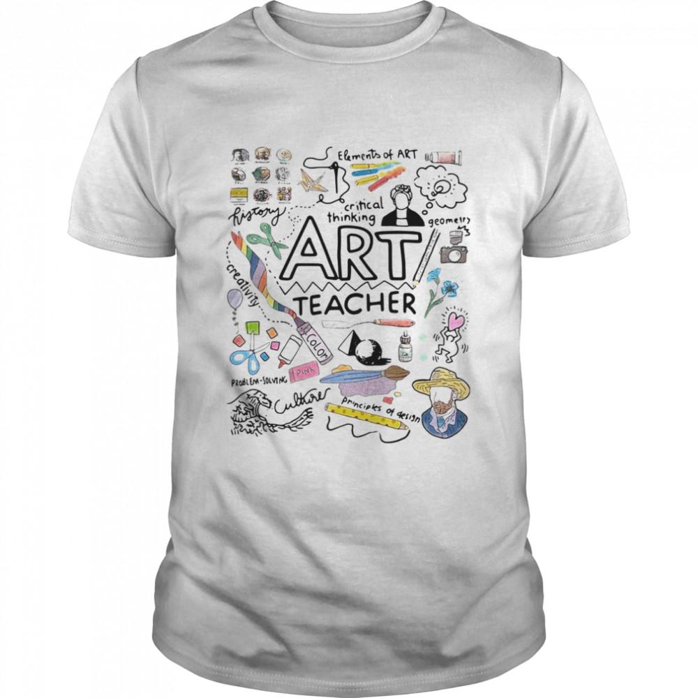 Elements Of Art Critical Thinking Art Teacher shirt Classic Men's T-shirt