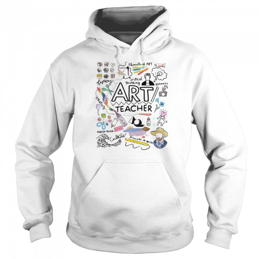Elements Of Art Critical Thinking Art Teacher shirt Unisex Hoodie