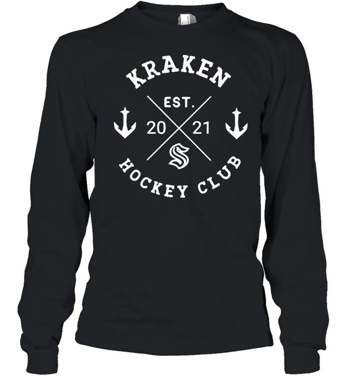 Kraken hockey club est 2021 shirt Long Sleeved T-shirt