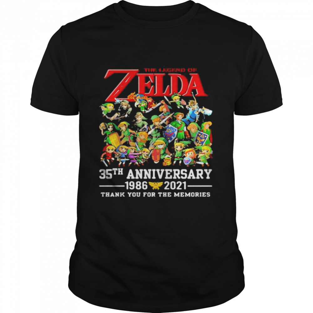 The Zelda 35th Anniversary 1986 2021 Thank You For The Memories shirt