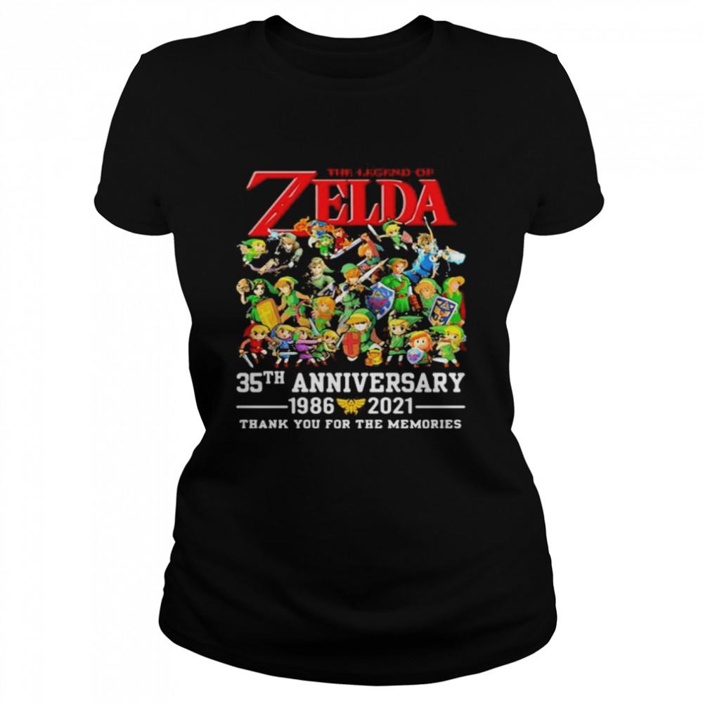 The Zelda 35th Anniversary 1986 2021 Thank You For The Memories shirt Classic Women's T-shirt