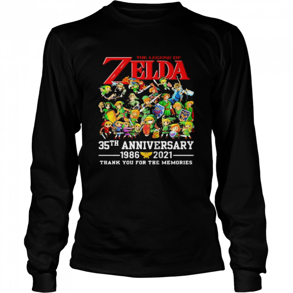 The Zelda 35th Anniversary 1986 2021 Thank You For The Memories shirt Long Sleeved T-shirt