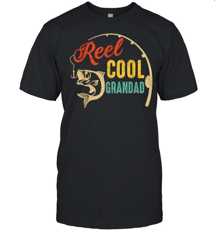 Vintage Fishing Reel Cool Grandad shirt Classic Men's T-shirt