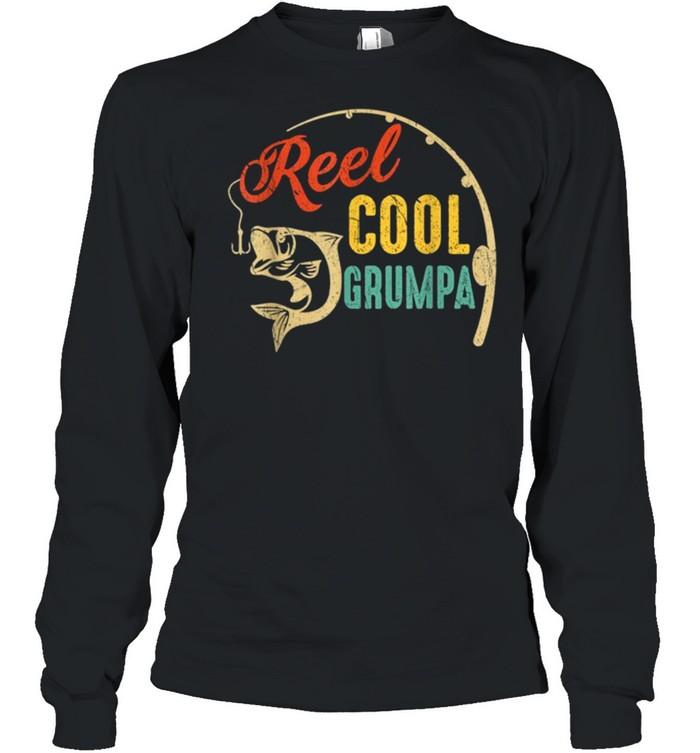Vintage Fishing Reel Cool Grumpa shirt Long Sleeved T-shirt