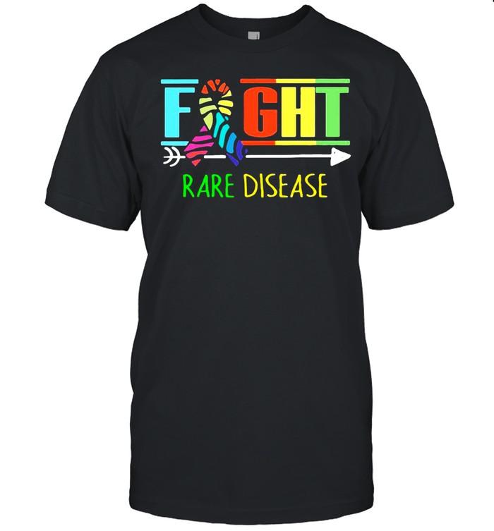 Fight Rare Disease Zebra Ribbon Rare Disease Day 2021 shirt Classic Men's T-shirt