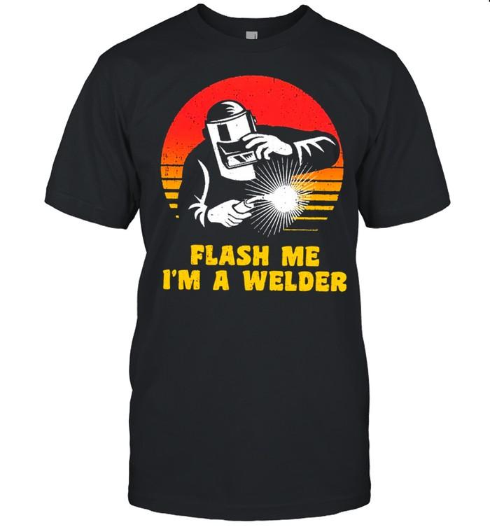 Flash me im a welder vintage shirt Classic Men's T-shirt
