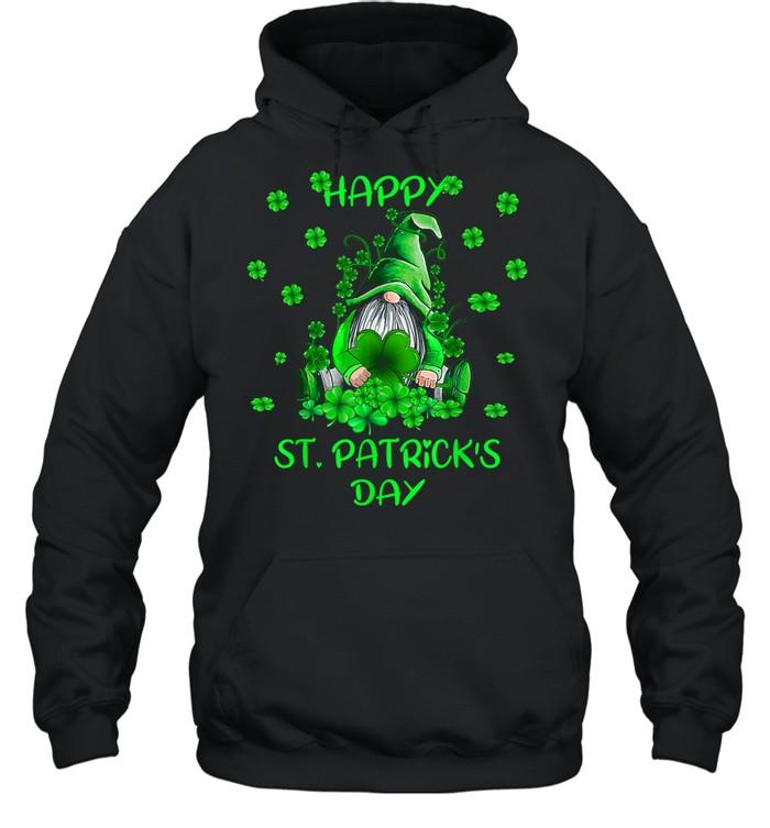 Gnome Happy St Patricks Day tshirt Unisex Hoodie