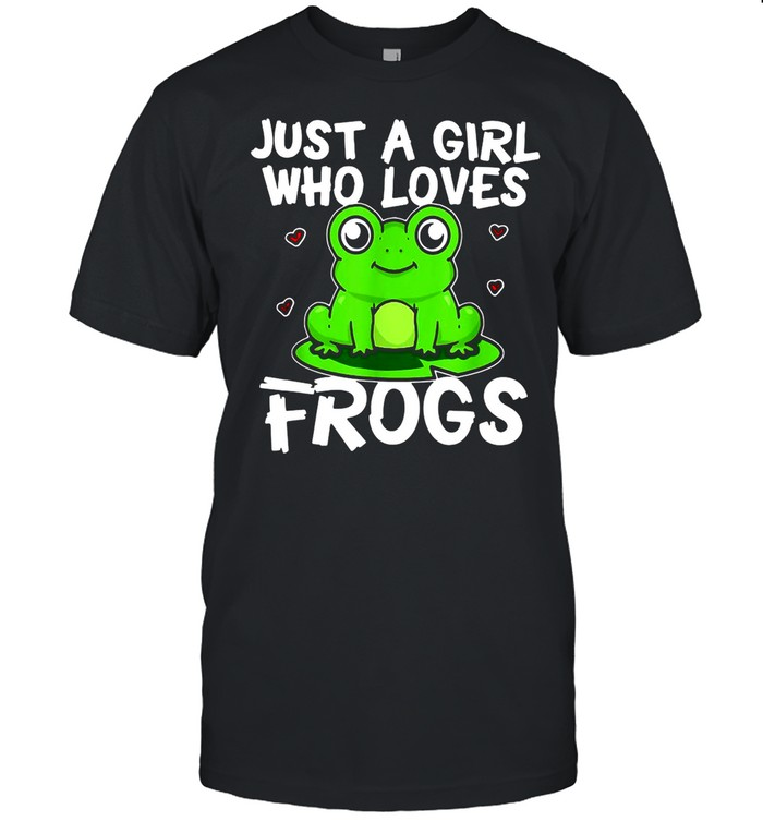 Just A Girl Who Loves Frogs Green Frog Costume shirt Classic Men's T-shirt
