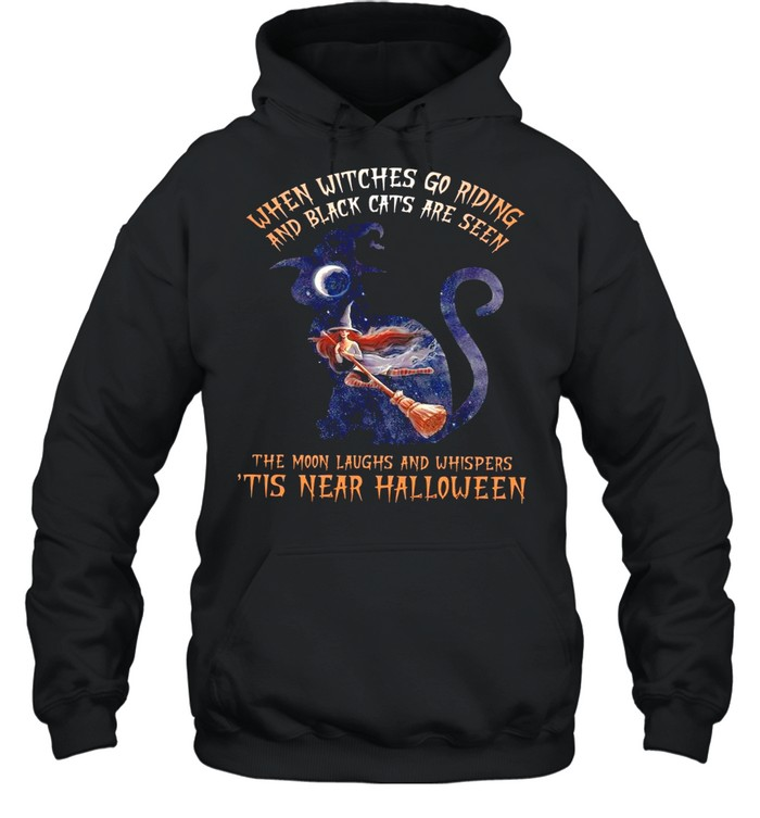 When Witches Go Riding And Black Cats Are Seen shirt Unisex Hoodie