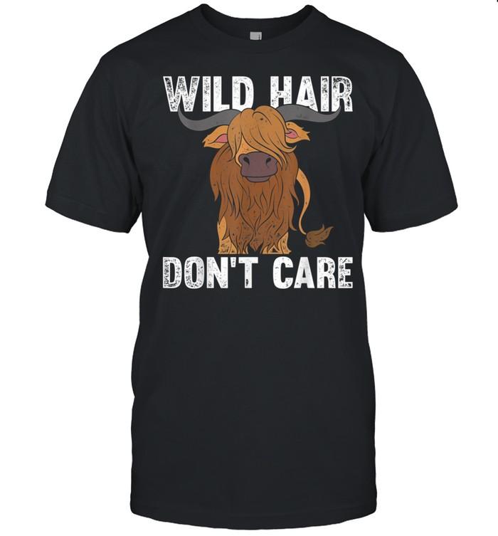 Wilde Haare sind mir egal Lustiges Schottisches Hochlandrind shirt Classic Men's T-shirt