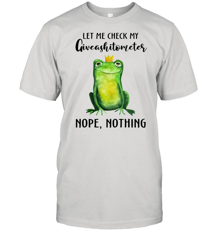Frog Let Me Check My Giveashitometer Nope Nothing  Classic Men's T-shirt
