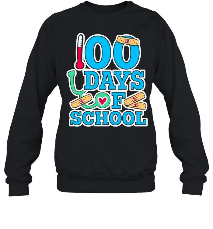 School Nurse 100 Days Of School Unisex Sweatshirt