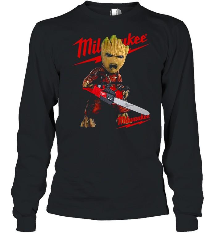 Baby Groot Hug Milwaukee shirt Long Sleeved T-shirt