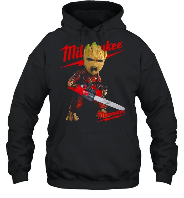 Baby Groot Hug Milwaukee shirt Unisex Hoodie