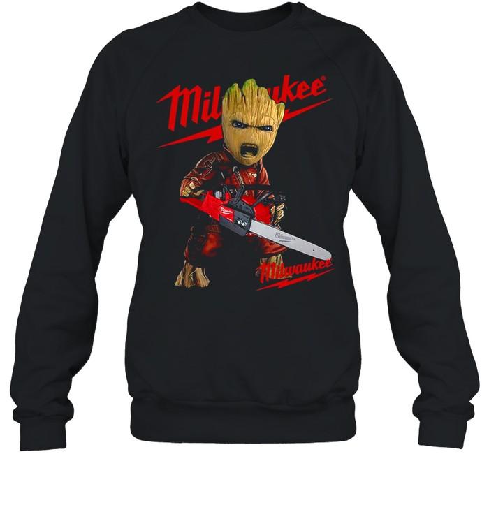 Baby Groot Hug Milwaukee shirt Unisex Sweatshirt