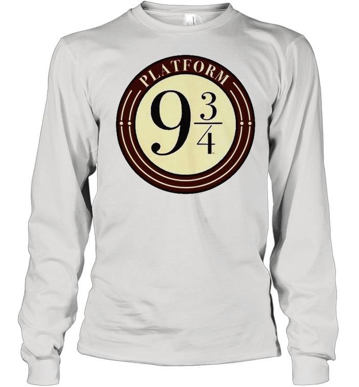 Harry Potter Platform 9 And 34 Simple Logo Long Sleeved T-shirt
