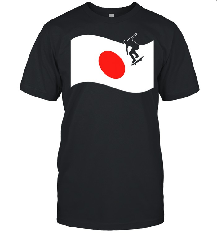 Japan Flag Skateboard Japanese Skateboarding Sport shirt Classic Men's T-shirt