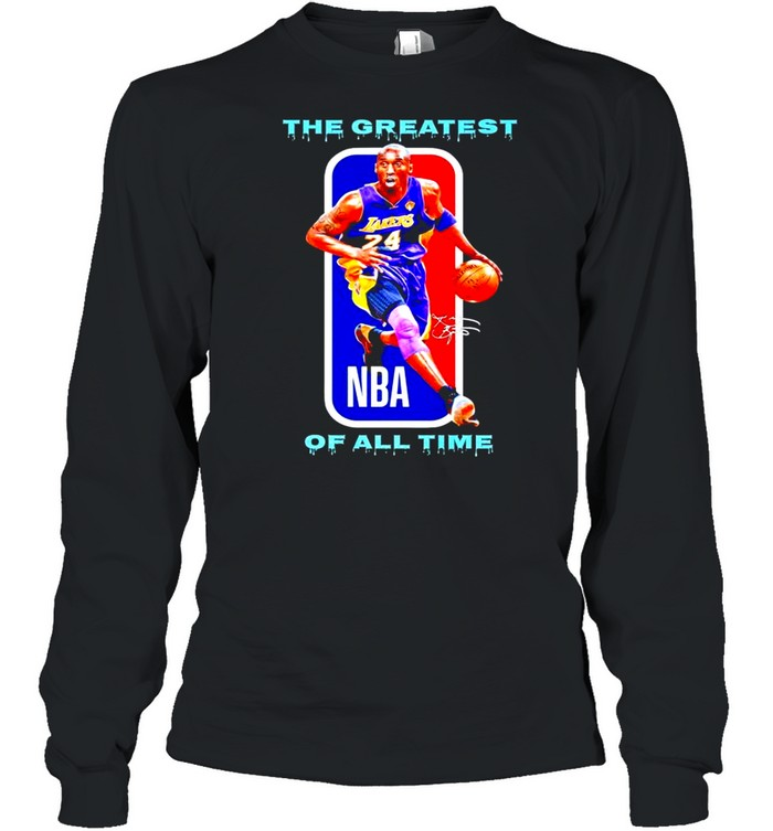 Kobe Bryant the greatest of all time NBA signatures shirt Long Sleeved T-shirt