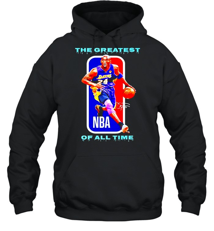 Kobe Bryant the greatest of all time NBA signatures shirt Unisex Hoodie