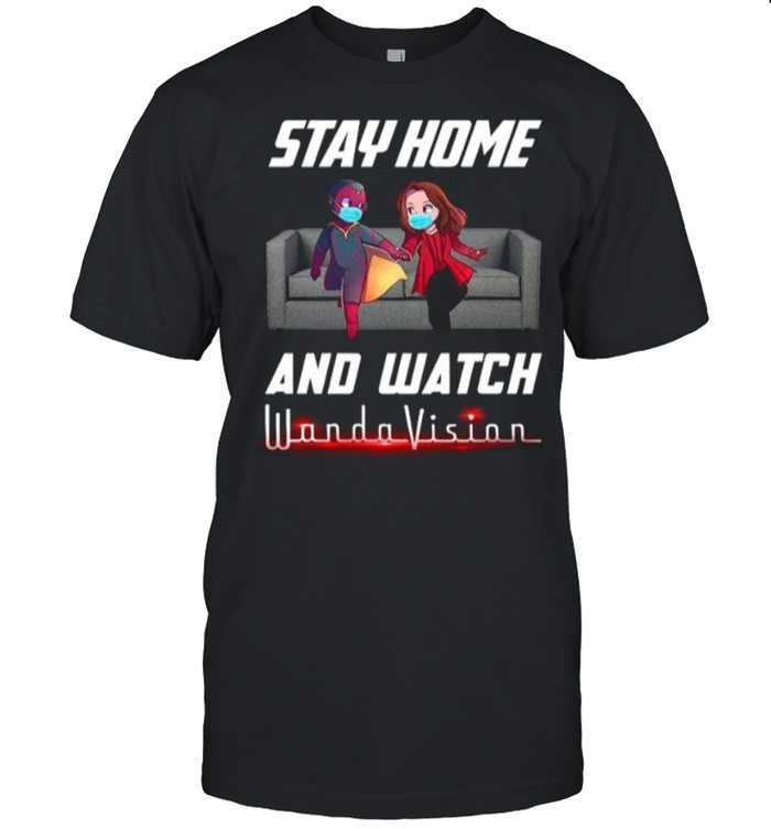 Stay Home And Watch Wandavision The Unusual Couple shirt Classic Men's T-shirt