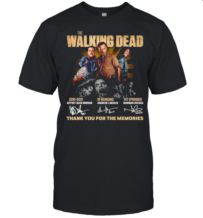 The Walking Dead 2010 2021 thank you for the memories shirt Classic Men's T-shirt