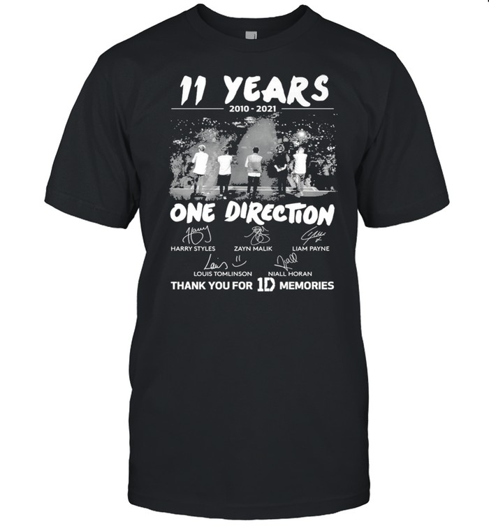 11 Years 2010 2021 One Direction Signature Thank You For 1D Memories  Classic Men's T-shirt