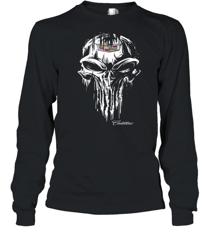 Skull Cadillac shirt Long Sleeved T-shirt