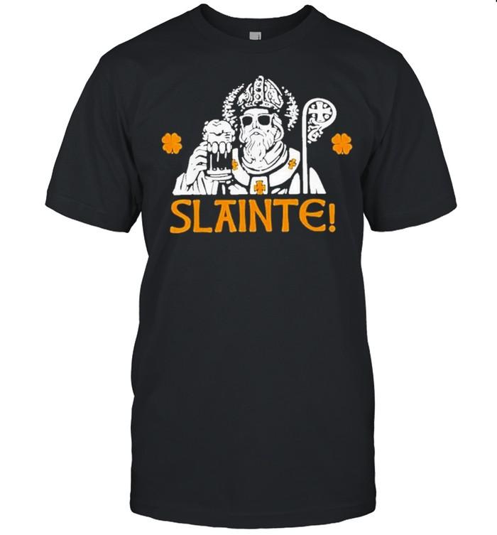 Slainte st patricks day drinking beer lover lucky shamrock shirt Classic Men's T-shirt
