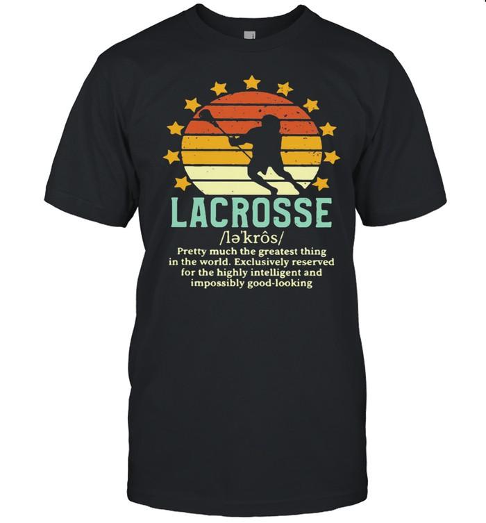 Definition Lacrosse Star Vintage Sunset  Classic Men's T-shirt
