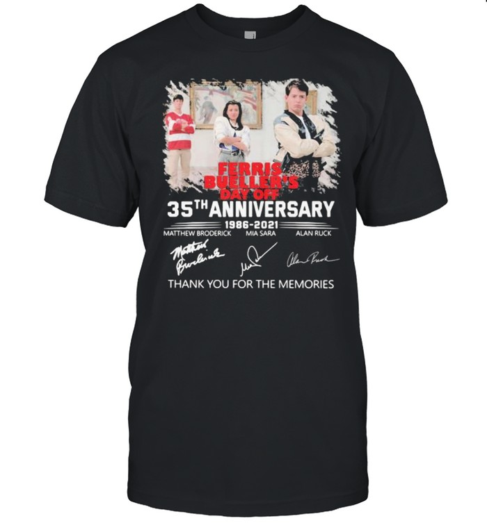 Ferris Bueller's Day Off 35th Anniversary 1986 2021 Signature  Classic Men's T-shirt
