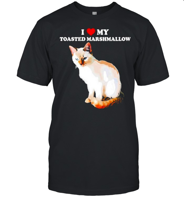 I Love My Toasted Marshmallow Flame Point Siamese Cat Kitten  Classic Men's T-shirt